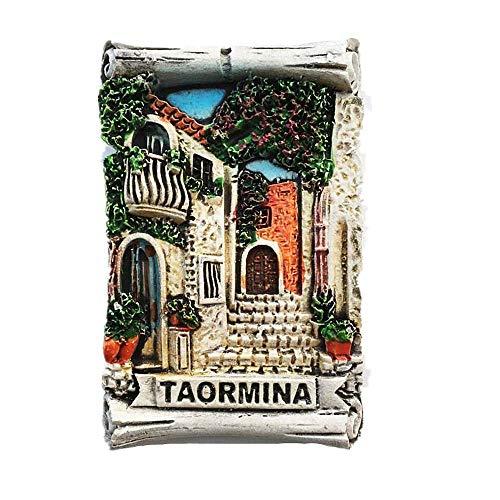 Taormina Sicilia Italia Calamita da frigorifero 3D regalo souvenir casa e cucina decorazione magnetica Sticker Sicilia Italia frigorifero magnete collezione