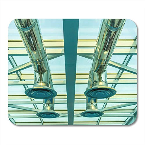 Muismat Zilver Airconditioning Ventilatie Plafond Verchroomde Pijpen voor Air Glass Mousepad Muismatten