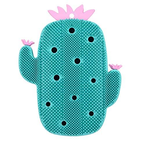 MIAOMIAOGI Bath borstels, mooie cactus, siliconen massage, badborstel voor gezicht en lichaam schuren gereedschap droogborstels lichaamsborstel zeep nettobadsponzen badkamer wasmachine