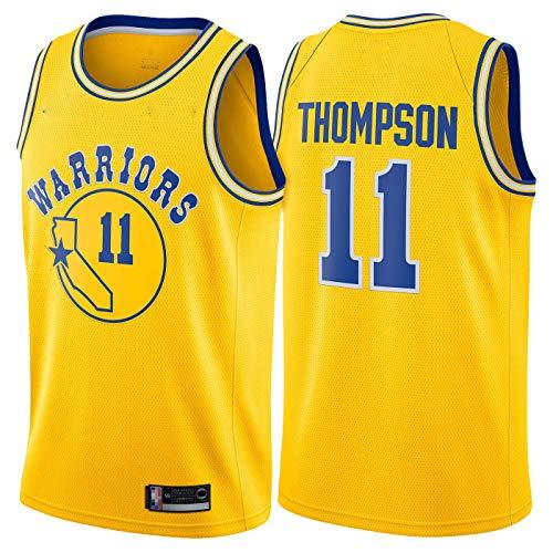 YZQ Uniformes De Baloncesto De Los Hombres, Golden State Warriors # 11 Klay Thompson Camisetas De Baloncesto De La NBA Sin Mangas Tops Tops Deportes Y Chalecos De Ocio,Amarillo,XL(180~185CM)