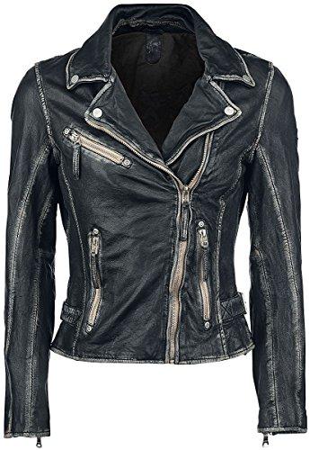 Gipsy by Mauritius Damen Lederjacke Bikerjacke Jacket Perfecto S17 LULV (3XL, Schwarz)