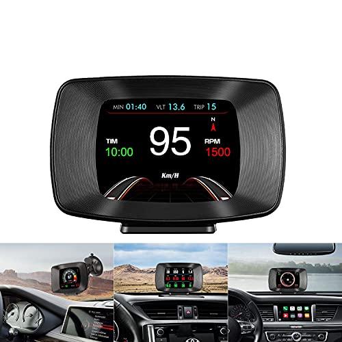 Auto Car HUD Head Up Display Digital Universal del Coche OBD2/GPS,RPM Navegación Speed Velocímetro Digital Mileage Gauge Herramienta de diagnóstico