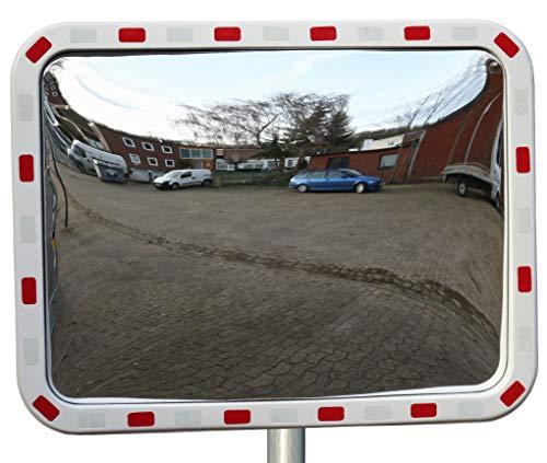 Verkehrsspiegel rechteckig 40 x 60 cm Straße Überwachungsspiegel Sicherheitsspiegel Konvexspiegel außen und innen Weitwinkeleffekt