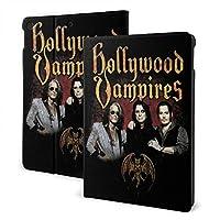 CSHQ Hollywood Vampires タブレット ケース iPad 7th /iPad Air3/ iPad Air pro 対応用ハードカバー 三つ折りスタンド スマートケース 10.2/10.5 インチ 適用 軽量 傷防止 全面保護型 オートスリープ/ウェイク PU レザーカバー ,