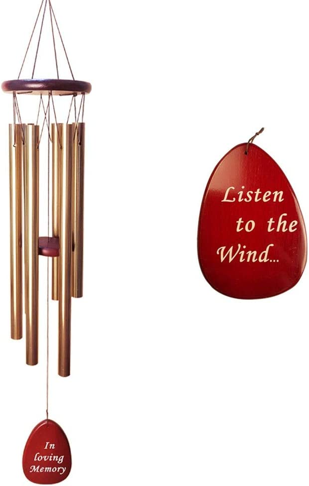 Memorial Wind Chimes with Writing Memory Sympathy Gifts Deluxe in for Loving