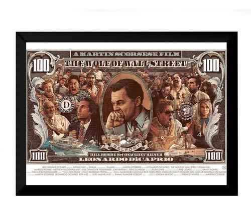 Quadro Decorativo O Lobo De Wall Street Arte Nota Dolar
