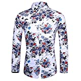 HDDFG Camisa de otoño para hombre, camisa de diseño único, camisa de manga larga estampada a rayas, camisa de oficina informal ajustada para hombre, M-7XL (Color : A, Size : 4XL code)