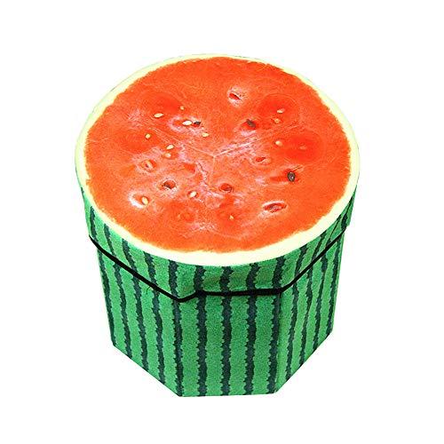 qingqingxiaowu baul Puff almacenaje Puff Almacenamiento Puffs Puf Taburete de Almacenamiento Reposapiés De Almacenamiento de Taburete Pie Taburetes L,Watermelon