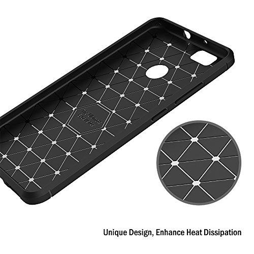 AICEK Huawei Nova Hülle, Schwarz Silikon Handyhülle für Huawei Nova Schutzhülle Karbon Optik Soft Case (5,0 Zoll) - 6