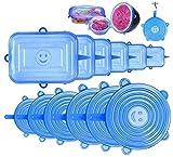 StillCool Tapas de Silicona Ajustables Cocina, Tapas de Silicona Elásticas, Reutilizable Fundas Adecuada para Boles, Tarros, Lavavajillas, Refrigerado
