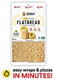 NEW Mini Lavash Flatbread w/ Whole Grain & Flax from Atoria's Family Bakery │ 50 Calories, 5g Net Carbs, Keto-Friendly, Clean Label │ 4 packs of 8 sheets