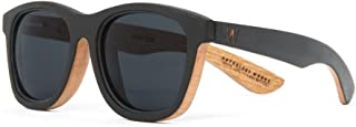 47f185b8a7 American Made Recycled Oak Black Wooden Sunglasses for Men - Woodzee x  Anthology Woods Classic
