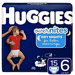 HUGGIES OverNites Diapers, Size 6, 15 ct., Overnight Diapers (Packaging May Vary)