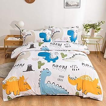Yoocool Kids' Duvet Set with 1 Duvet Cover 2 Pillowcases