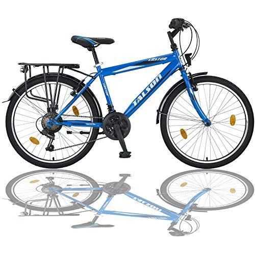 24 Zoll Jungen Fahrrad 21-Gang Shimano MIT Beleuchtung Farbe BLAU TMX