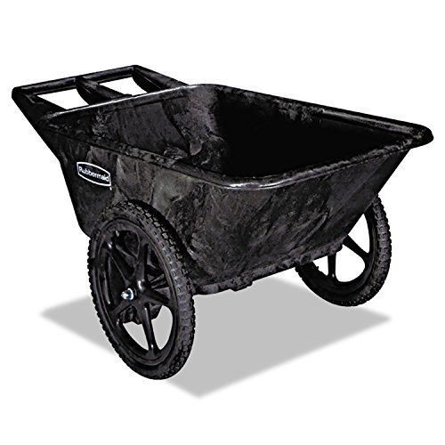 Rubbermaid 5642BLA Big Wheel Agriculture Cart, 300-lb Cap, 32-3/4 x 58 x 28-1/4, Black