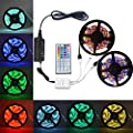 eTopxizu 32.8Ft /10M DC 12V Flexible 5050 RGB LED Strip Kit