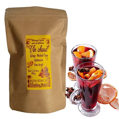 Mezcla de especias para vino caliente navideño 150 g (para 5 a 6 litros)  Mezcla dulce y fragante con clavo de canela, jengibre, anís estrellado y un toque de vainilla!  Tradition Nature