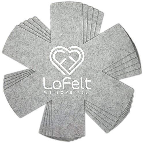 LoFelt® ❤ - Stapelschutz aus Filz für Pfannen, Töpfe und Schüsseln (5 St.)