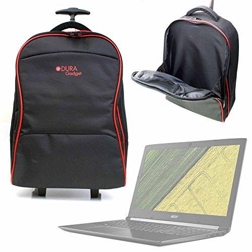 DURAGADGET Maleta de Ruedas para Viajar para Portátil Acer Aspire 5 A515-51G-54HF, Medidas de Equipaje de Mano.