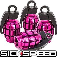 4 Anodized Grenade Valve Stem Cap Kit/Set For Rims/Wheels/Tires P3 Pink for Land Rover Range Rover