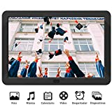 Marco Digital 8 Pulgadas Pantalla LED IPS Full HD Resolución 1920 * 1080 Marco de Fotos Digital MELCAM con Control Remoto Soporte Vista Previa Auto-rotación Foto/Música/Video – Negro
