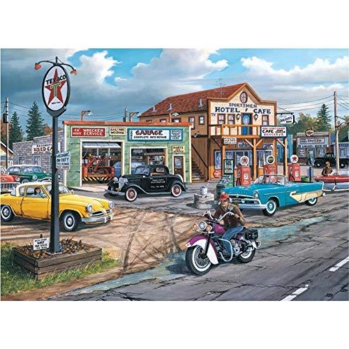 adultos DIY 5d Diamond pintura por número Kit Viaje de motor diamond painting full drill Rhinestone bordado de punto de cruz del hogar salon decoracion Mosaico Pinturas Manualidades 50x70cm Y4234