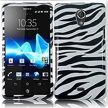 Bundle Accessory for AT&T Sony Ericsson Xperia TL LT30at - Zebra Designer Case Protective Cover + Lf Stylus Pen + Lf Screen Wiper