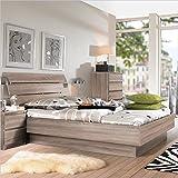 Tvilum Scottsdale 2 PC Full Platform Bed Set in Truffle