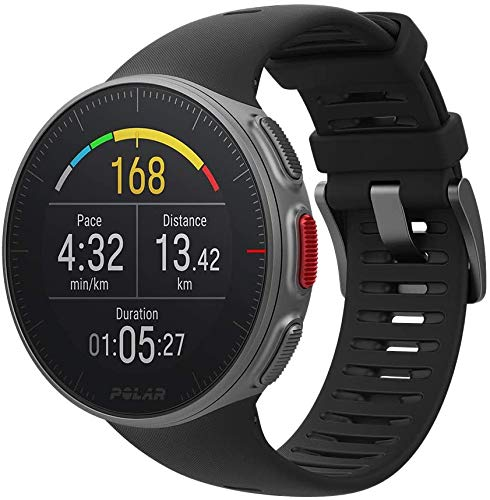Polar Vantage V Heart Rate Monitor with GPS, Unisex Adult, Black (Black), M / L-Wrist circumference 155-210 mm