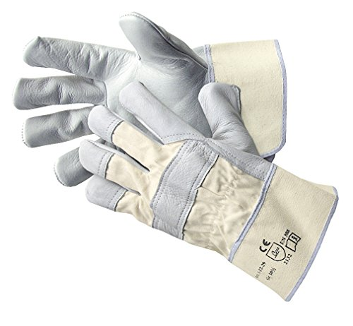 Jah 1-12-29 Lederhandschuh 5 Paar Stulpe standard natur Gr. 9