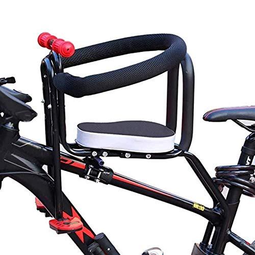 WYJW Asiento de Bicicleta para niños de Montaje Frontal, Asiento de Seguridad para Bicicletas para niños, Asiento para portabebés con pasamanos para niños y niños pequeños