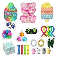 30ピースのフィジットパック安い感覚のフィジットのおもちゃセット、ストレスの軽減と不安防止ツールバンドル子供と大人、フィジットスピナーストレスリリーフ&不安救済ツール (Color : 30pcs-h)
