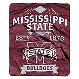 NORTHWEST NCAA Mississippi State Bulldogs Raschel Throw Blanket, 50' x 60', Label