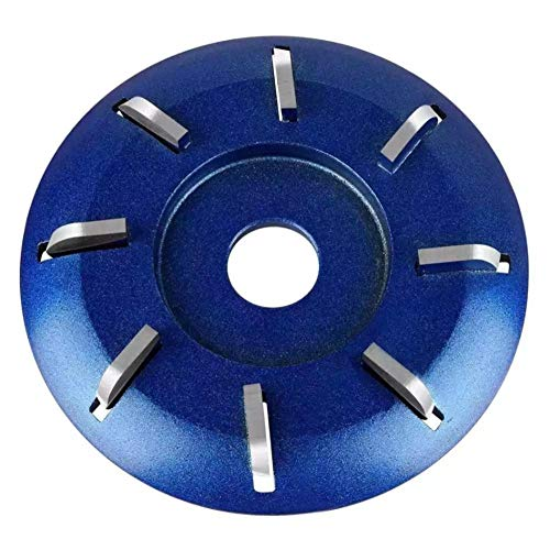 Disco de tallado de madera Turbo Bandeja de té redonda de acero de tungsteno Cortador de tallado de madera negro / azul Uso para amoladora angular 90 mm 8 dientes 3 piezas