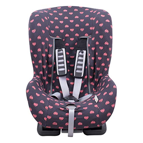 Universal Car Seat Cover Liner (Britax, Chicco, Mico and More) Flúor Heart