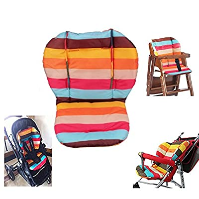 Cojín trona, Amcho Baby Cochecito / Trona / Asiento de coche Película protectora Respirable Impermeable Pad (Rainbow Stripes)