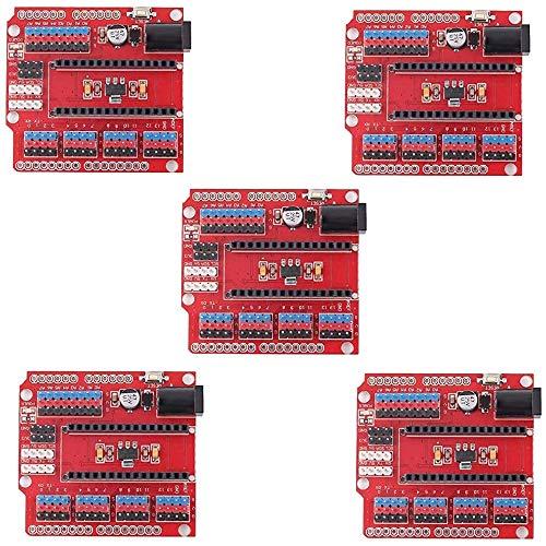 JKGHK 5Pcs Nano I/O Expansion Sensor Shield for Arduino UNO R1 Nano 3.0 Duemilanove 2009
