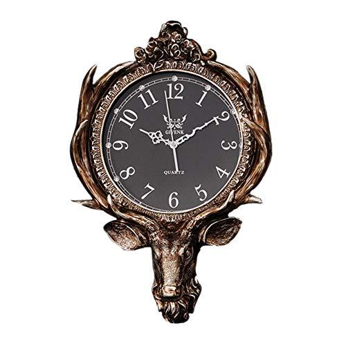 Vintage Jede Wanduhr Dekoration, Harz, Geschnitzt Ohne Tickgeräusche Mute Analoge Uhr Mit Große Arabische Ziffern Glasabdeckung Uhr Haus-s