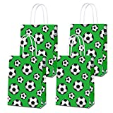 16 PCS Party Favor Bags for Soccer Birthday Party Supplies, Party Gift Goody Treat Candy Bags for Soccer Party Favors Decor for Soccer Party Girls Kids