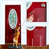"""Dog Scratch Door Protector, Door Scratch Shield, Frame & Wall Scratch Protection Barrier for Dog and Cat Clawing, Door Protector from Dog Scratching and Damaging Doors12""""x17"""" Inches 08mm Thick 3 PACK"""