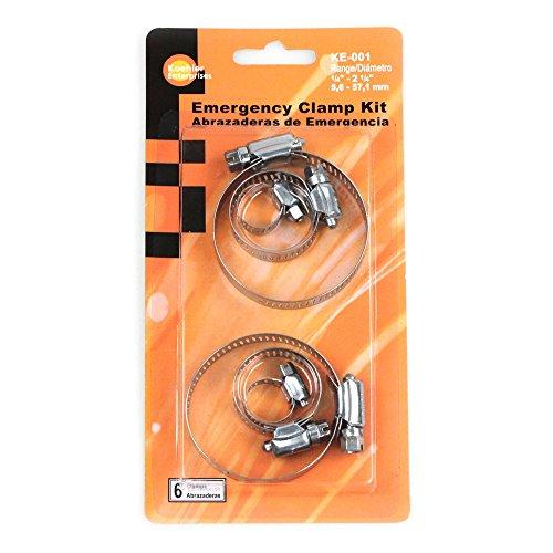 Koehler Enterprises KE001 Hose Clamp Emergency Kit, 6 Piece