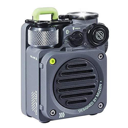 Bluetooth Speaker MUZEN WILD Mini Lautsprecher Wasserdichter Bluetooth 5.0 Sport Lautsprecher Bluetooth Multifunktion mit Taschenlampe