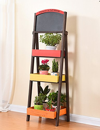 YANZHEN Simple Créativité Bois Multilayer Flower Rack Shelving Balcon Floor Planter Shelf Simple Modern Living Room Indoor Flower Rack Etagère de Fleur