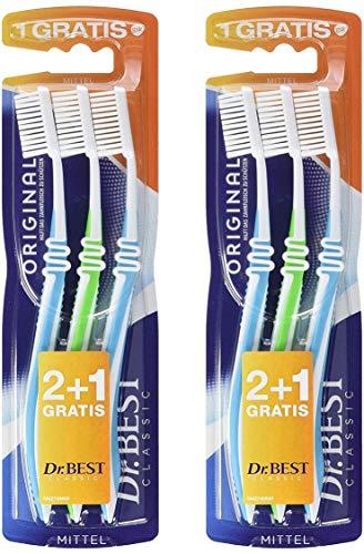 Dr.BEST Original Zahnbürsten, Mittel, Hilft, das Zahnfleisch zu schützen (6 Zahnbürsten)