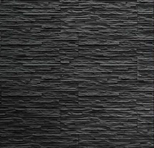 Plaqueta de pared – Aspecto de piedra natural – Imitando perfectamente la pizarra natural – Gris antracita