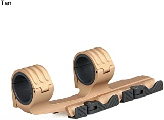 CANIS LATRANS Rifle Scope Mount 30mm/35mm Quick Release Dual Ring Tactical Optic Mount for 21.2mm Picatinny Weaver Rail Optics(Tan)