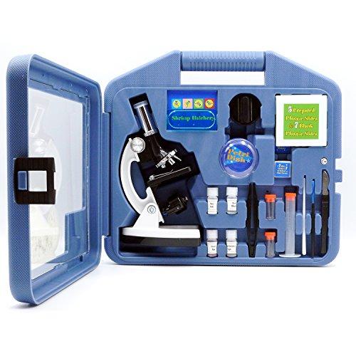 OPTO-EDU A11.1513 Kids Microscope Kit with Metal Arm and Base, Metal, Glass, Plastic