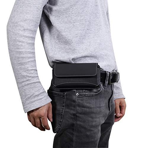 Wckxy Caja del Teléfono De Los Hombres Oxford Universal Funda De Cuero Paquete De La Cintura De Teléfono Móvil Portátil For iPhone Galaxy S10 XS / / 5.2 Pulgadas O Teléfonos Inteligentes Continuación