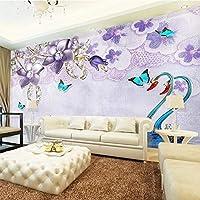 カスタム写真壁画壁紙3D白鳥の花ジュエリーリビングルームソファテレビ背景壁紙家の装飾壁画